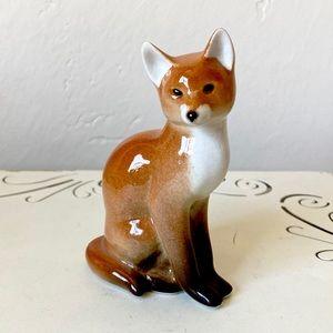 Vintage ceramic fox figurine